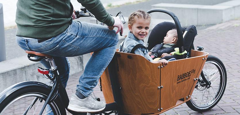 Baby op de fiets meenemen
