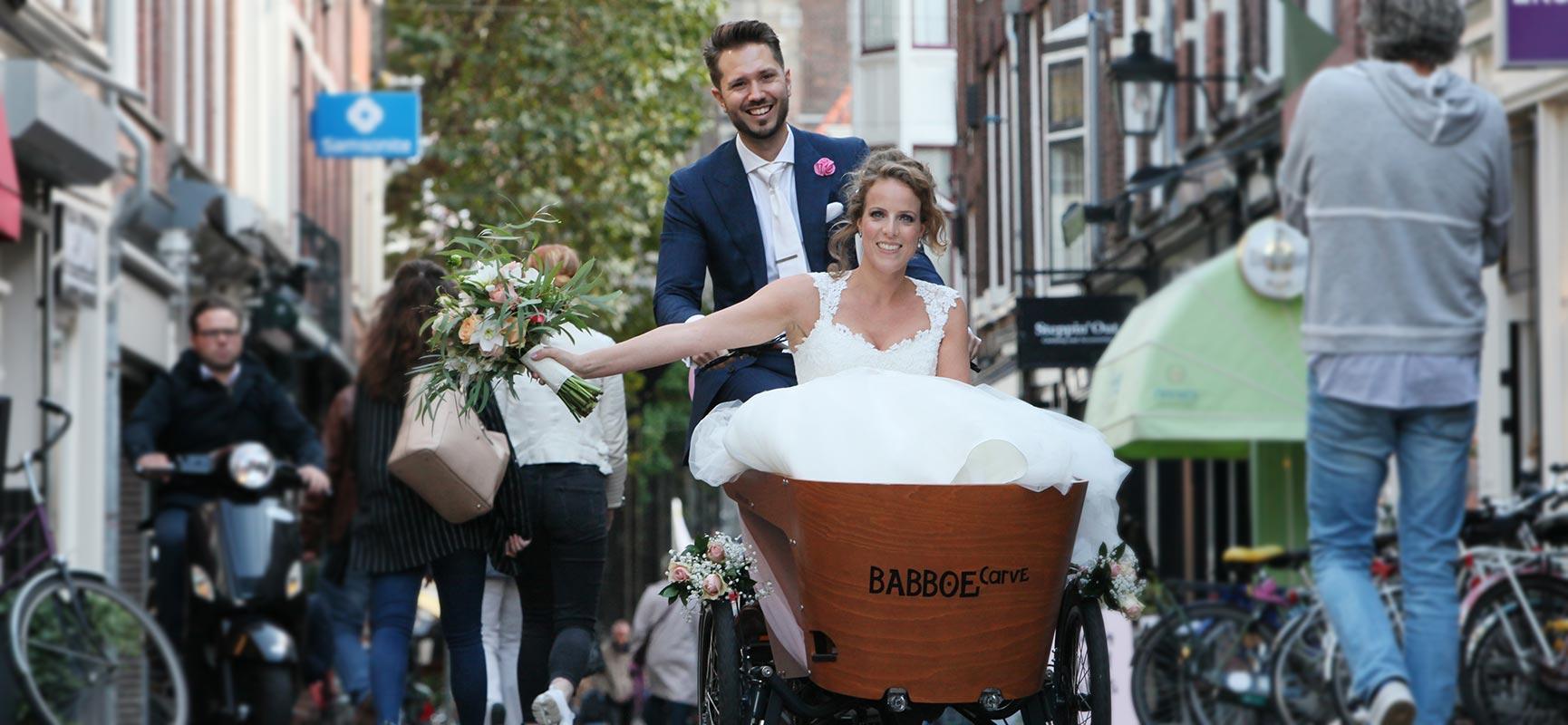 Op de bakfiets trouwen? Dat kan!