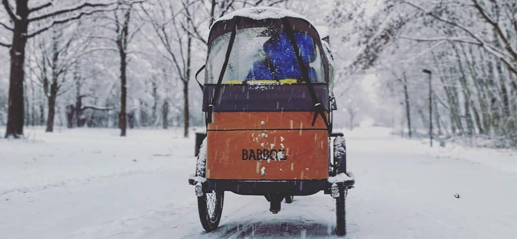 Bakfietsen in de winter