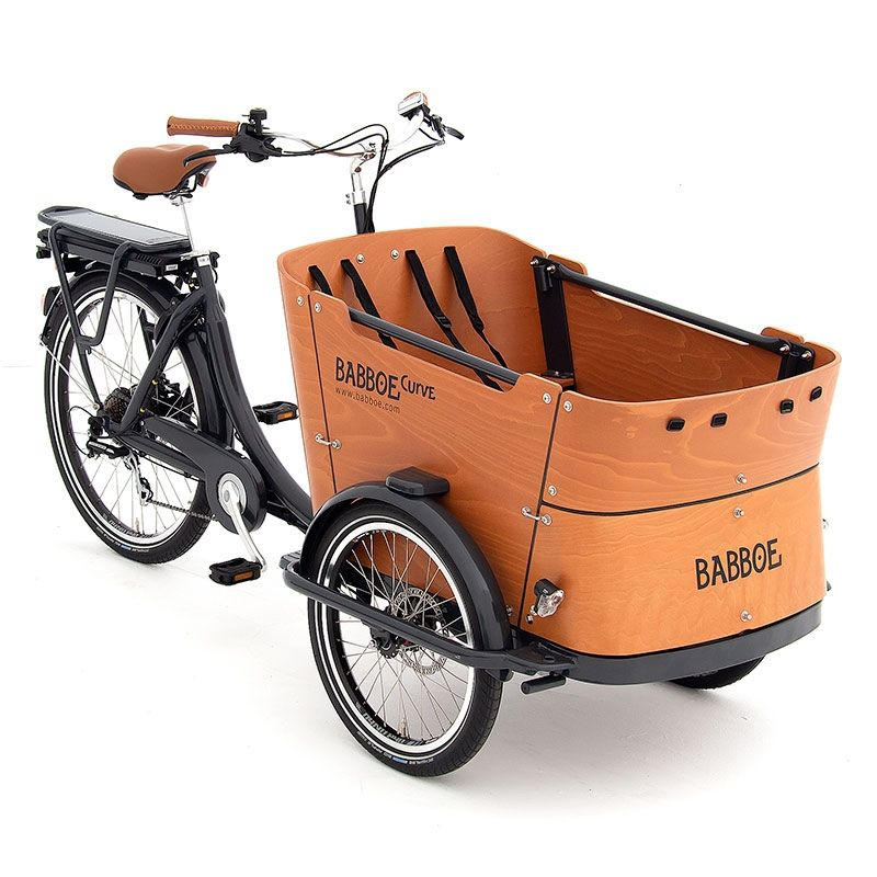 Eigentijdse elektrische driewielbakfiets