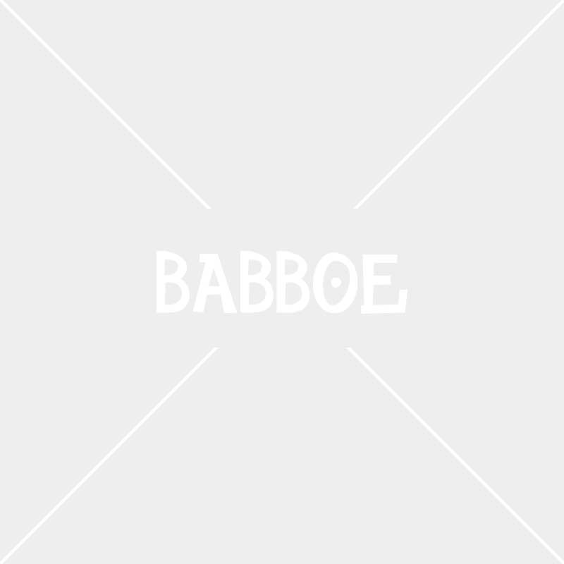 Babboe Curve-E bagagedrager inlay hout