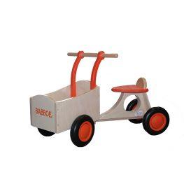 Babboe houten loopbakfiets oranje