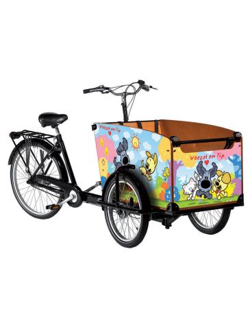 Babboe bakfiets stickers woezel & pip classic