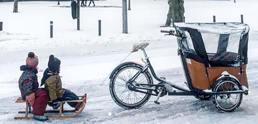 Hoe fietsen met bakfiets in de sneeuw?